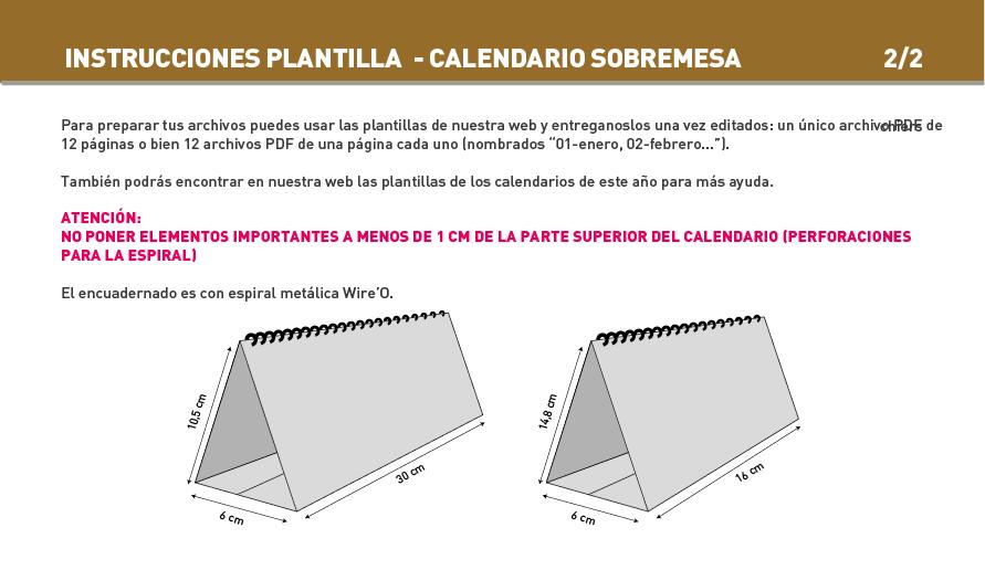 Impresión Calendarios con Espiral - Pared / Sobremesa | Exaprint