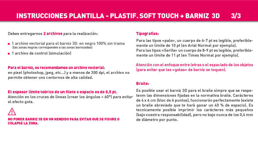 Impresión Tarjeta mate Soft Touch + barniz 3D - sin impresión   Exaprint