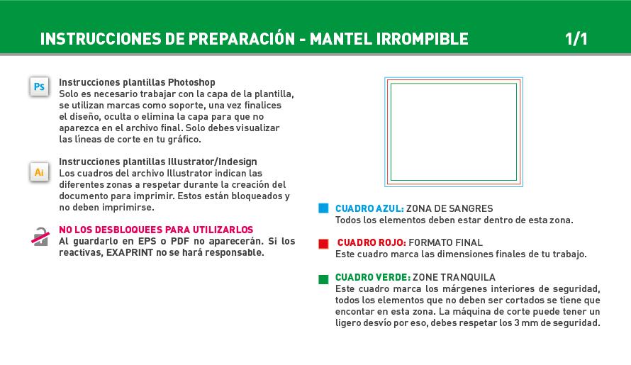Impresión Mantel individual irrompible | Exaprint
