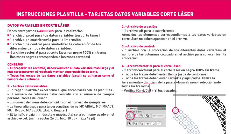 Tarjeta simple y de visita con datos variables | Exaprint